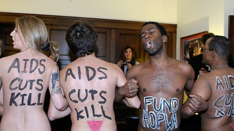 A nude protest at Boehner's office.